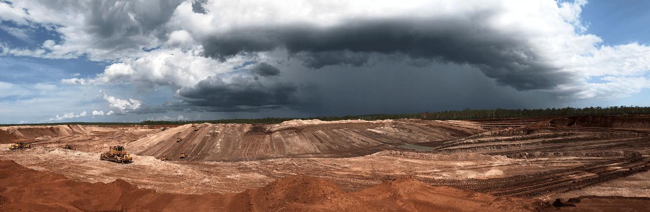 Mine landscape